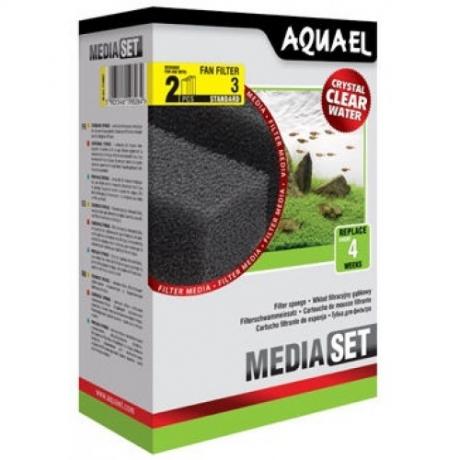 AQUAEL Fan 3 Plus filtrisvamm, N2