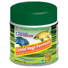 OCEAN NUTRITION FLAKES, Cichlid Vegi helbed, 34g